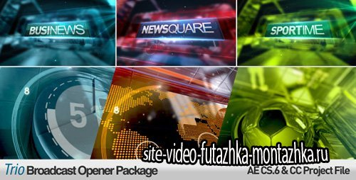 Trio Broadcast Openers Package - Project for After Effects (Videohive)
