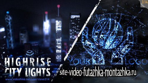 Highrise City Lights - Logo Intro - Project for After Effects (Videohive)