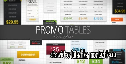 Promo Tables - Project for After Effects (Videohive)