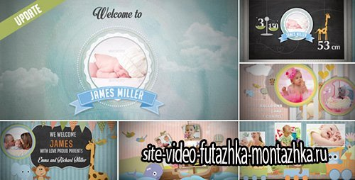 Birth Announcement - Baby Photo Album - Project for After Effects (Videohive)