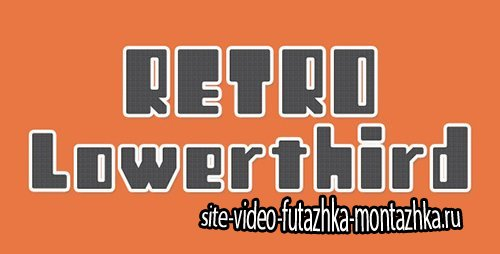 12 Retro Lowerthird - Project for After Effects (Videohive)