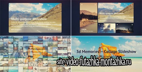 3d Memories — Collage Slideshow - Project for After Effects (Videohive)
