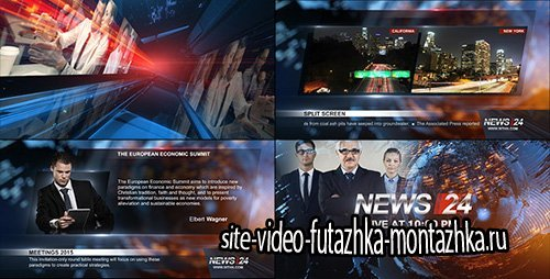 Broadcast Design - News 24 Package - Project for After Effects (Videohive)