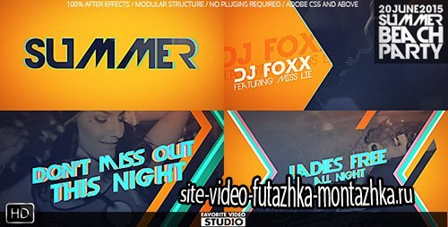 Summer Beach Party - Project for After Effects (Videohive)