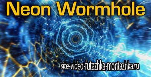 Neon Wormhole - hi-tech tunnel flythrough - Project for After Effects (Videohive)