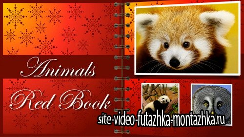 Animals Red Book - Project for Proshow Producer