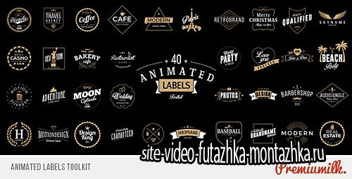 Animated Labels Toolkit - Project for After Effects (Videohive)