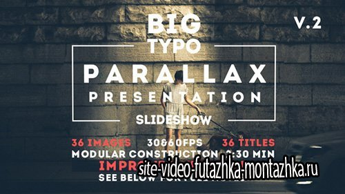 Big Typo Parallax Presentation - Project for After Effects (Videohive)