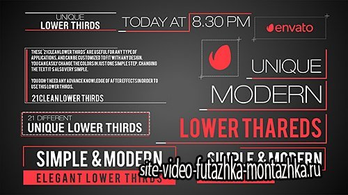 21 Modern Lower Third - Project for After Effects (Videohive)