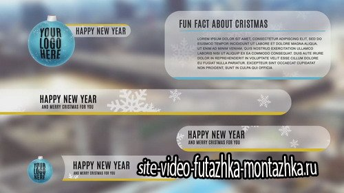 Christmas Lower Thirds - Project for After Effects