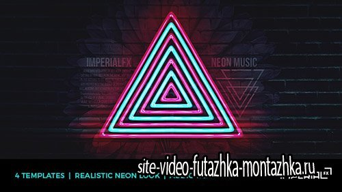 Neon Music Visualizer Audio React - Project for After Effects (Videohive)