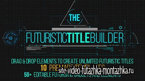 Futuristic Title Builder - Project for After Effects (Videohive)
