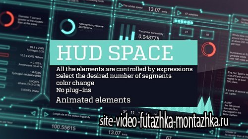 Hud space - Project for After Effects (Videohive)