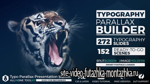 Big Typo Parallax Presentation Builder - Project for After Effects (Videohive)