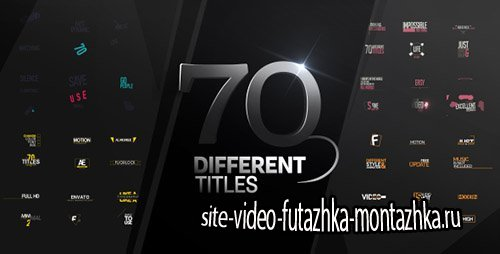70 Different Titles - Project for After Effects (Videohive)