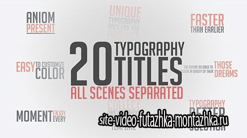 Unique Typography - Project for After Effects (Videohive)