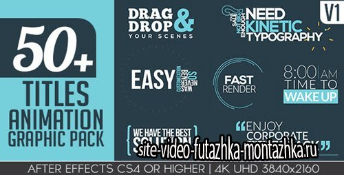 Titles Animation Graphic Pack - Project for After Effects (Videohive)