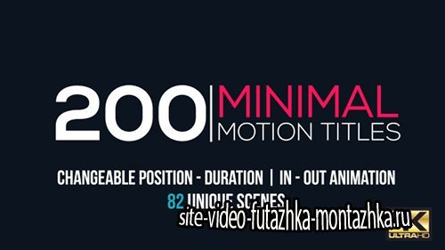 Minimal Motion Titles Pack - Project for After Effects (Videohive)