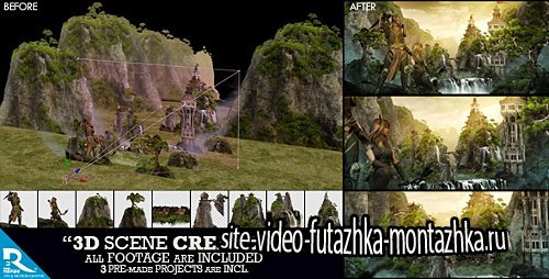 3D Scene Creator Kit - Project for After Effects (Videohive)