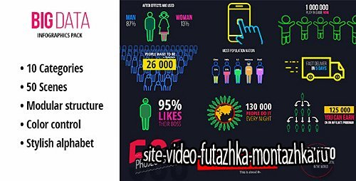BigData - Ultimate Infographics Pack - Project for After Effects (Videohive)