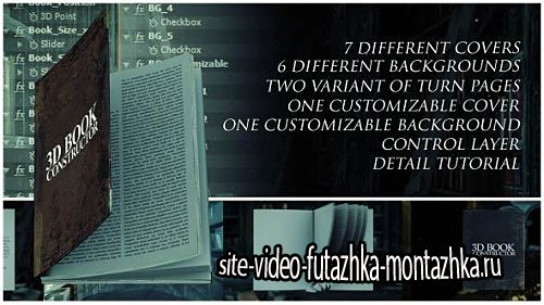 3D Book Constructor - Project for After Effects (Videohive)