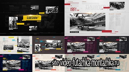 Slideshow Clean Timeline - Project for After Effects (Videohive)