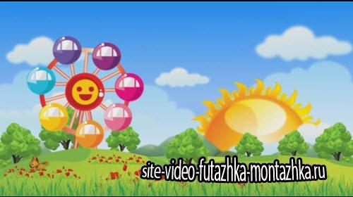 футаж - Детская видео заставка HD