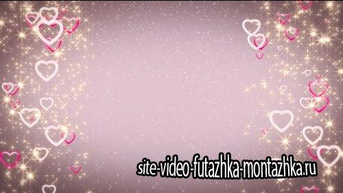 футаж HD - Фоновая заставка с сердечками