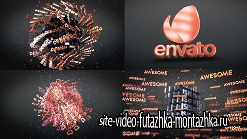 3D Text Shapes Logo Reveal - Project for After Effects (Videohive)