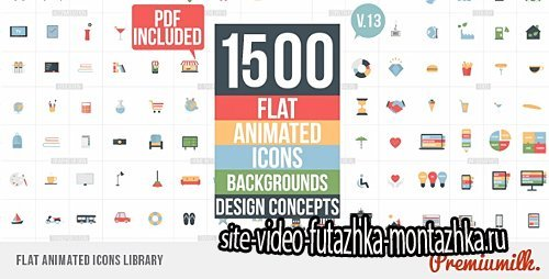 Flat Animated Icons Library V.13 - Project for After Effects (Videohive)