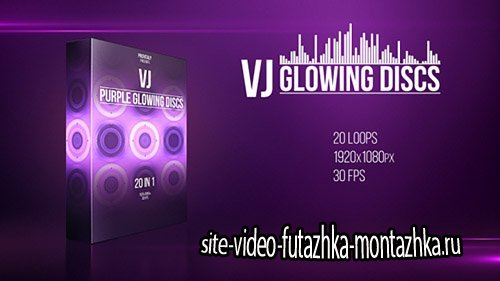 VJ Purple Glowing Discs - Motion Graphics (Videohive)