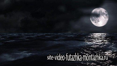 Видео футаж HD - Луна и Море