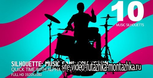 Videohive Music Band Collection 10 (sillhouettes) 714857 - Motion Graphics