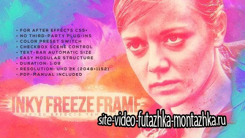 Inky Freeze Frame - Project for After Effects (Videohive)