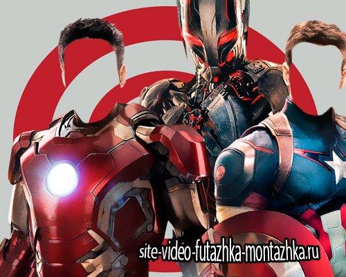 Шаблон для фото - Два супергероя