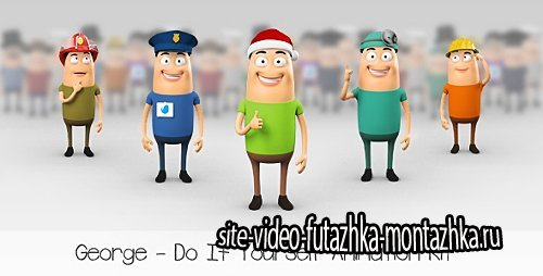 George - Character Animation DIY Kit - Project for After Effects (Videohive)