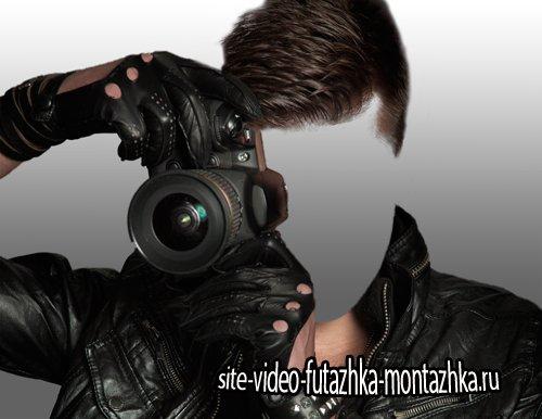 Мужской шаблон - Парень с фотокамерой