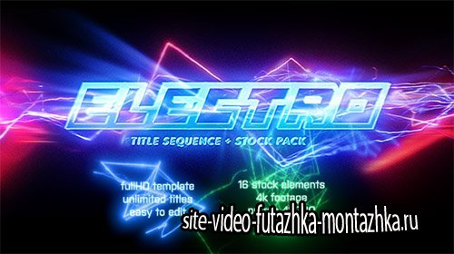 Electro - Electric Title Sequence + 16 Lighting Elements - Project for After Effects (Videohive)