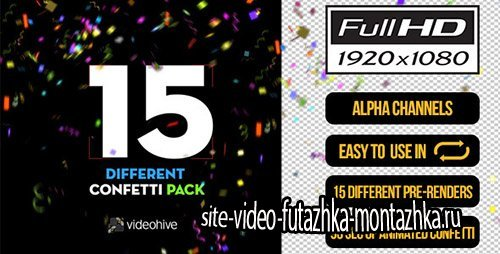 15 Confetti Pack - Motion Graphics (Videohive)