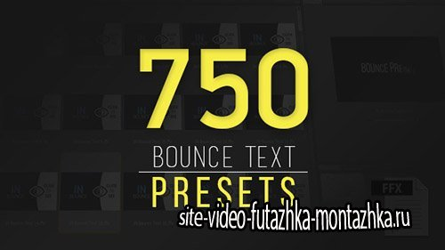Ultimatum Bounce Presets - After Effects Presets (Videohive)