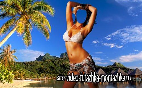Шаблон для фотошопа  - Отдых на Гаити