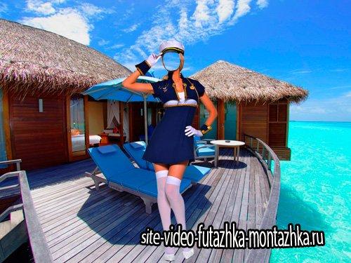 Шаблон для фотошопа  - Морячка