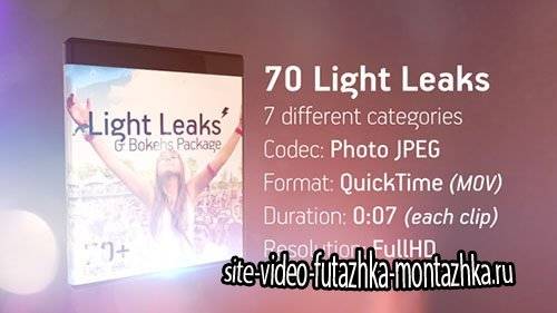 Light Leaks & Bokehs Package - Project for After Effects (Videohive)