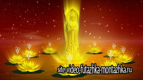 Футаж фоновый - Golden video background HD