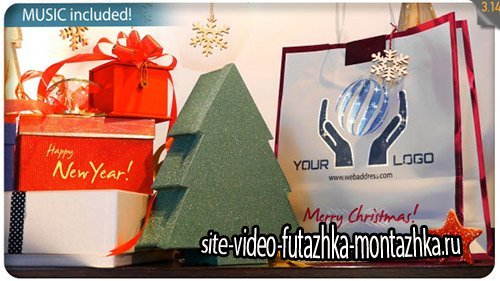 Christmas Gifts Logo - Storefront Digital Signage - Project for After Effects (Videohive)