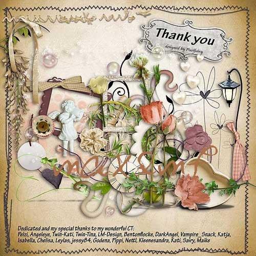 Цветочный скрап-набор - Благодарю тебя