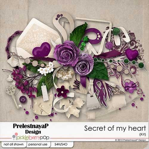 Романтический скрап-набор - Мои сердечные секреты