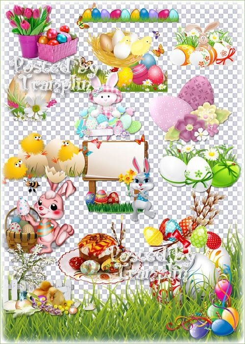 Пасхальный клипарт – Весна идет, она полна чудес - Христос воскрес - Воистину воскрес