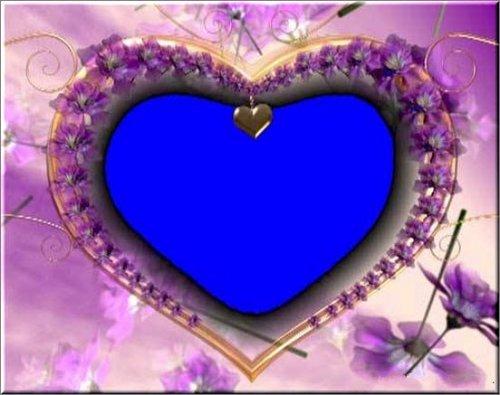 футаж - Рамка сердце на хромакее