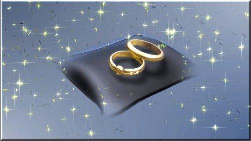 футаж Красивый свадебный фон с обручаоьными кольцами HD